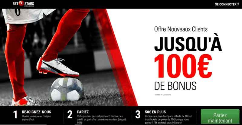 betstars bonus offre nouveaux clients 100 euro