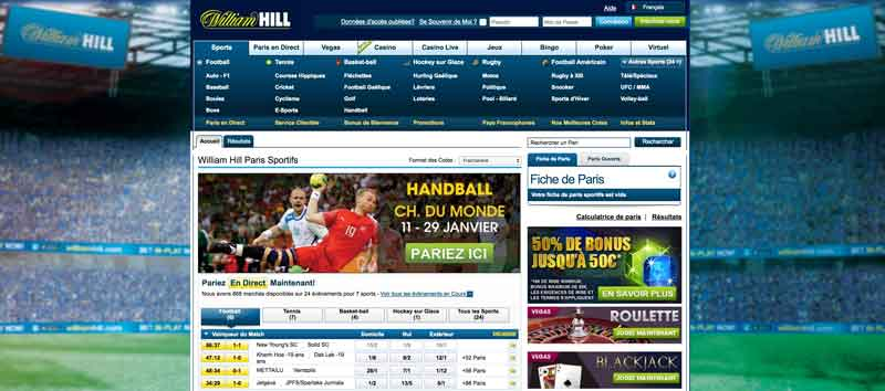 William Hill paris en ligne